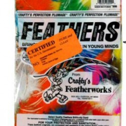 FEATHERS PLUMMAGE ASSORTED COLOR BAG  14 GRAMS