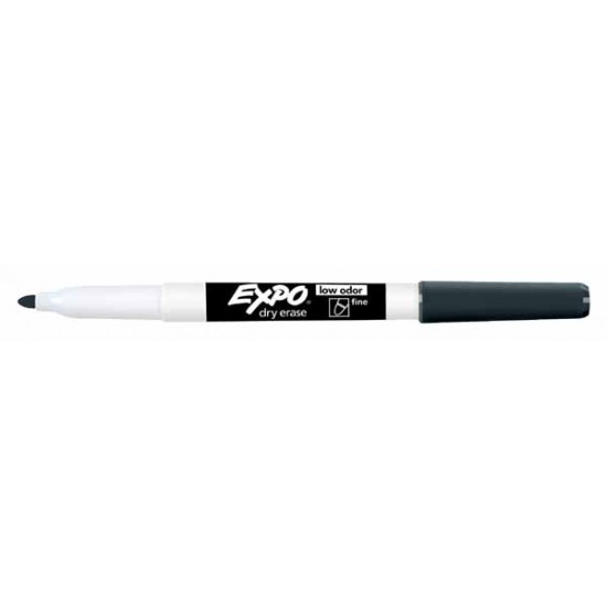 MARKERS DRY ERASE EXPO LOW ODOR FINE  BLACK