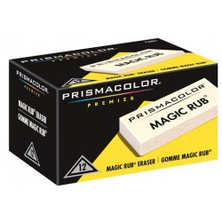 ERASER MAGIC RUB BY PRISMACOLOR BULK WHITE VINYL (12/ut)