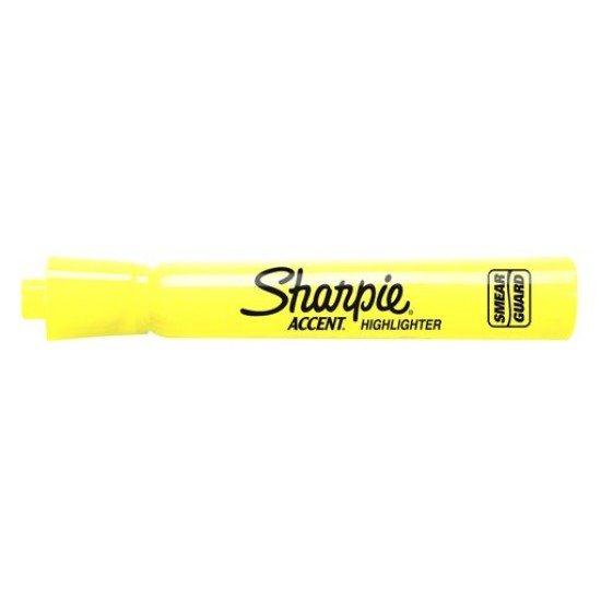 HIGHLIGHTERS SHARPIE ACCENT upc'd  FL. YELLOW USE 7164125025