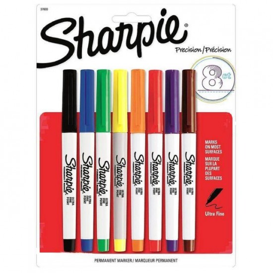 MARKERS SHARPIE PERMANENT ULTRA-FINE 8 COLOR SET