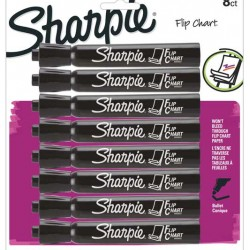 MARKERS SHARPIE FLIP CHART BLACK  8 pack